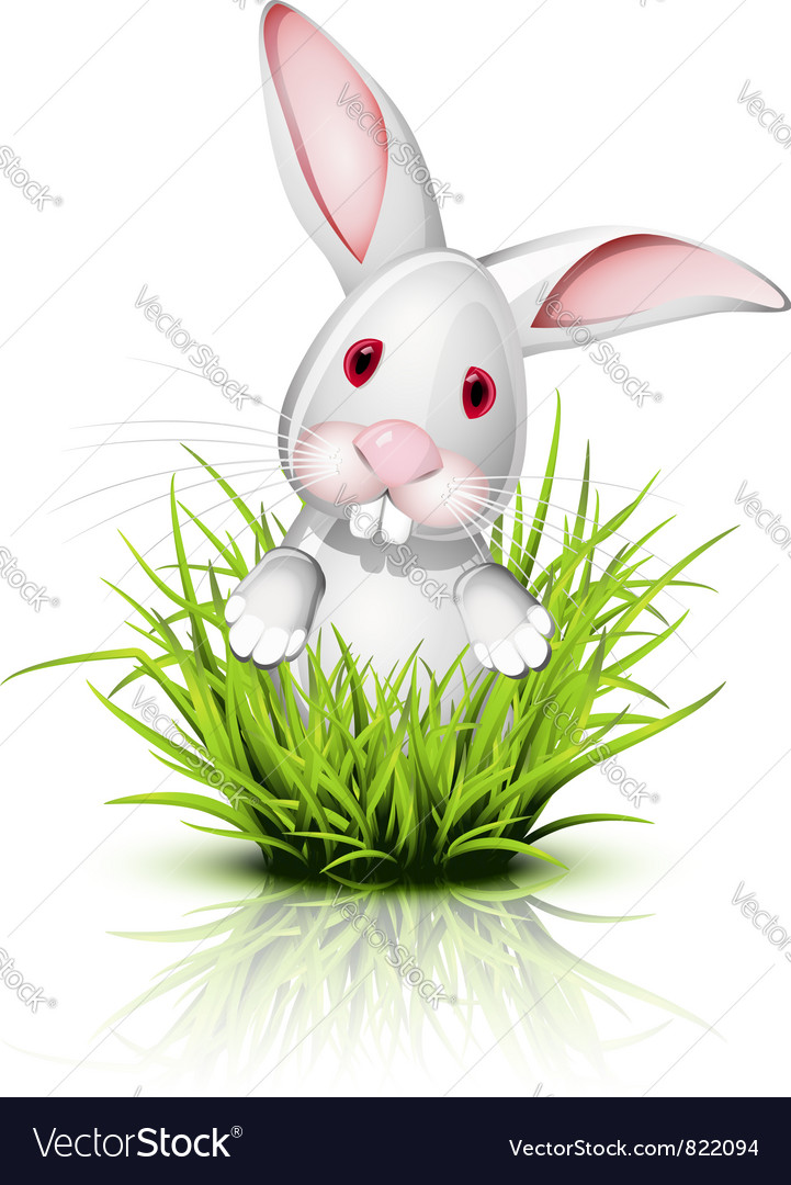 Little rabbit grass vector | Price: 1 Credit (USD $1)