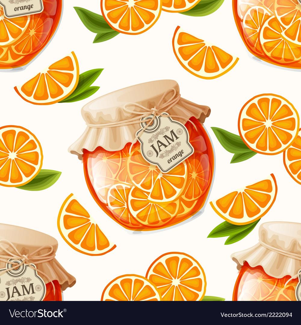 Orange jam seamless pattern vector | Price: 1 Credit (USD $1)