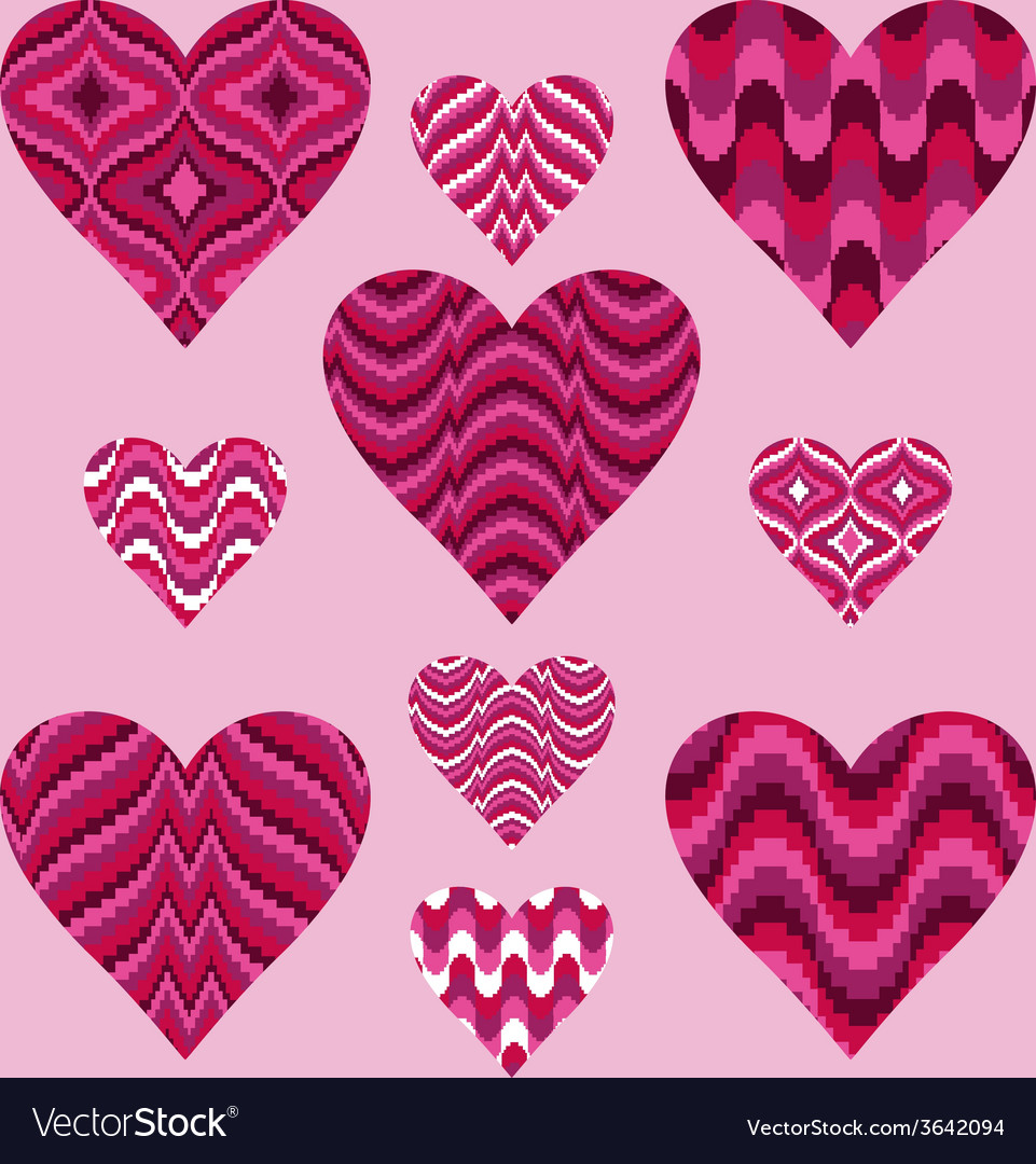 Patterned hearts vector | Price: 1 Credit (USD $1)