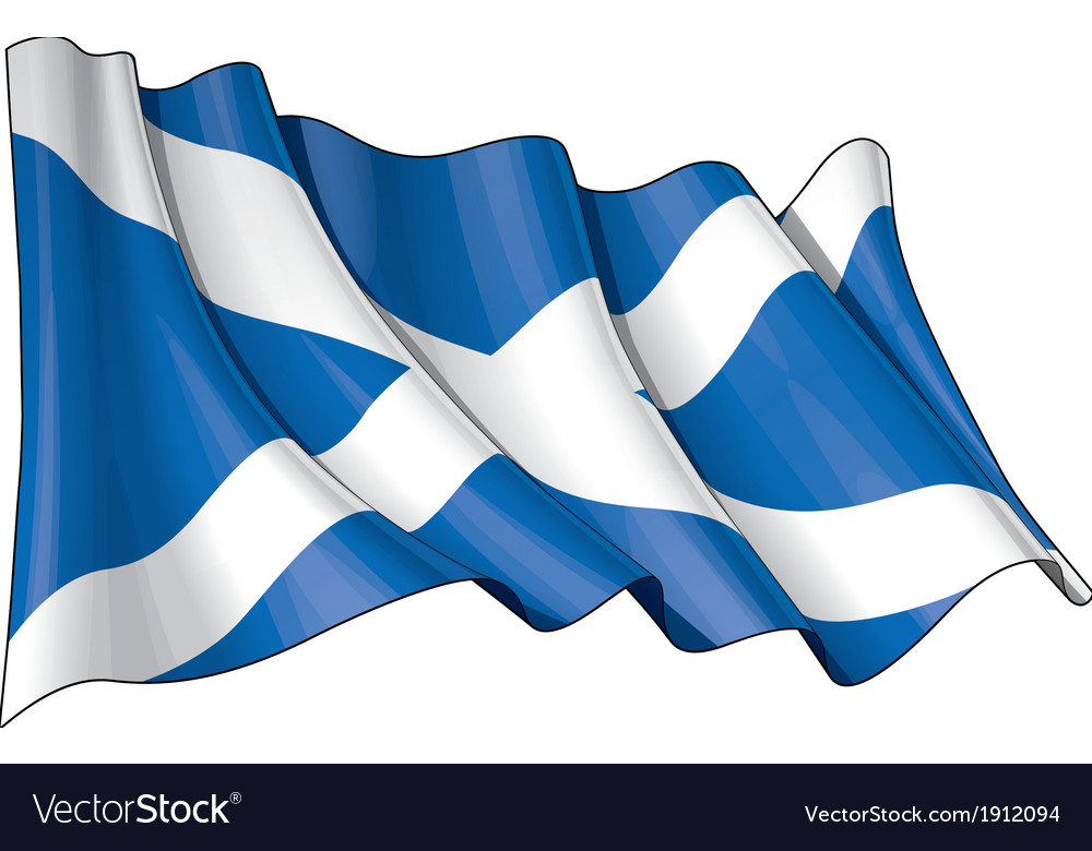 Scotland flag grunge vector | Price: 1 Credit (USD $1)