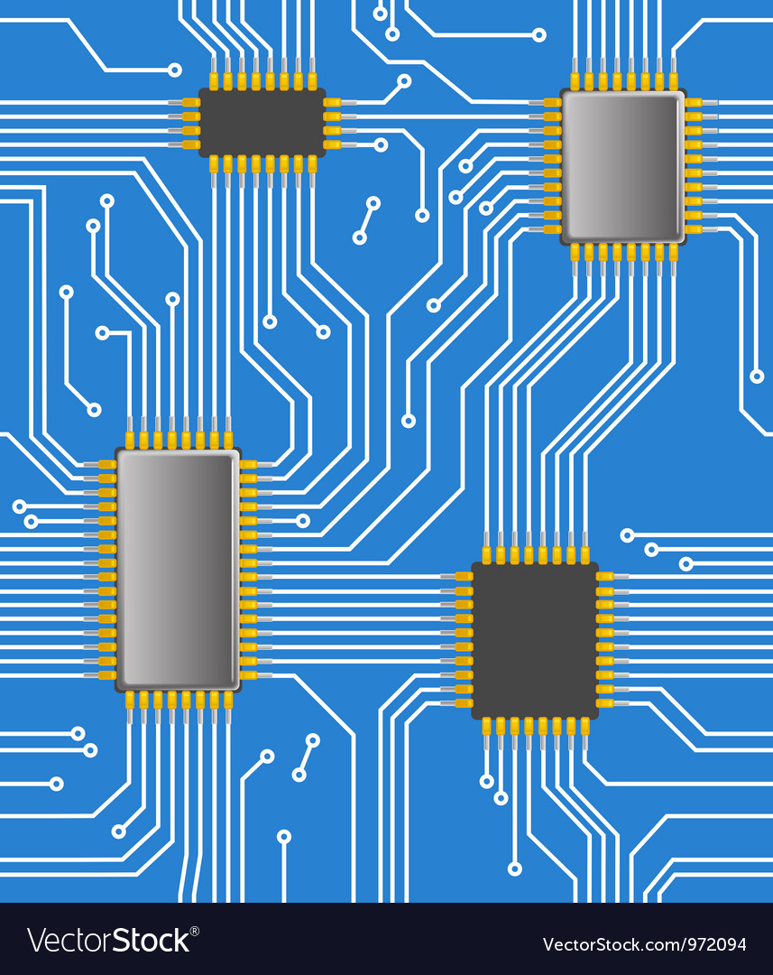 Seamless computer chipset background vector | Price: 1 Credit (USD $1)