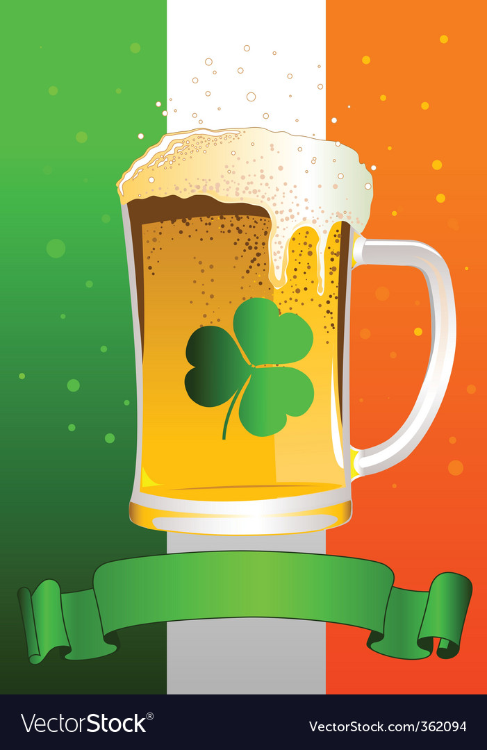 St patrick's day celebration background vector | Price: 3 Credit (USD $3)
