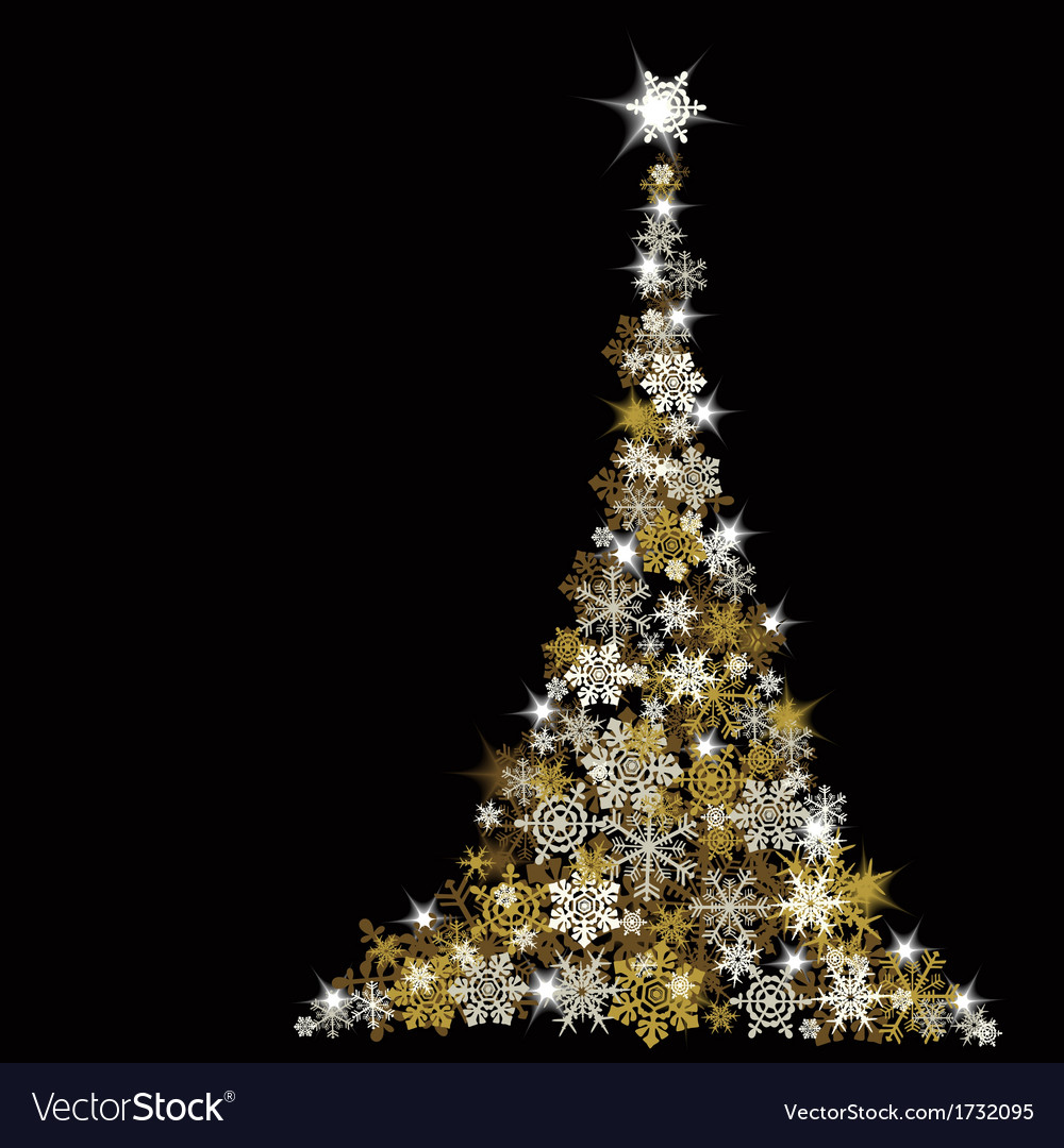The abstract christmas tree vector | Price: 1 Credit (USD $1)