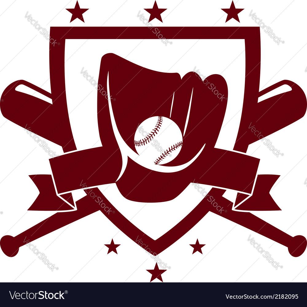 Baseball championship emblem vector | Price: 1 Credit (USD $1)