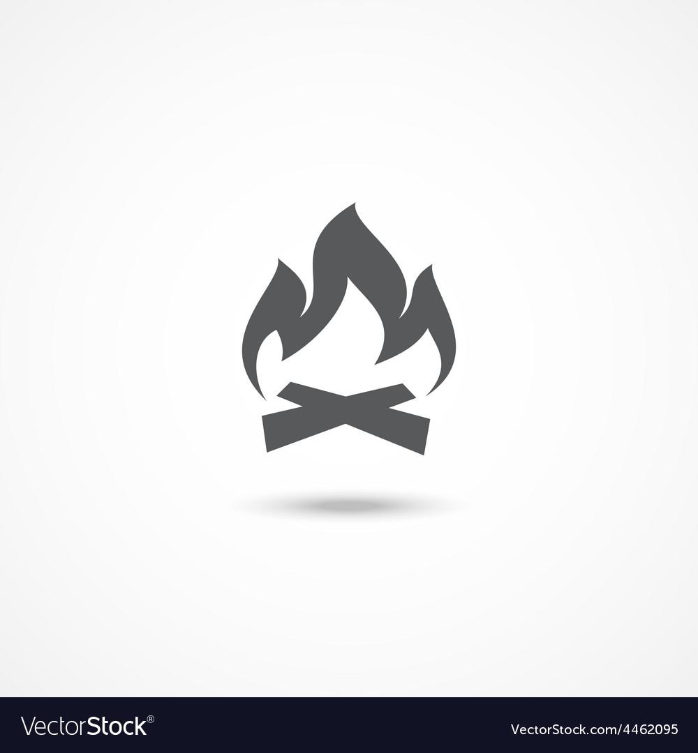 Bonfire icon vector | Price: 1 Credit (USD $1)