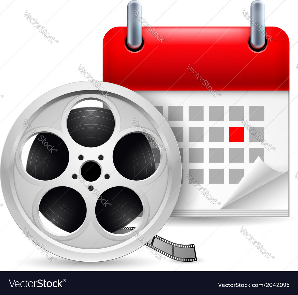 Film reel and calendar vector | Price: 1 Credit (USD $1)