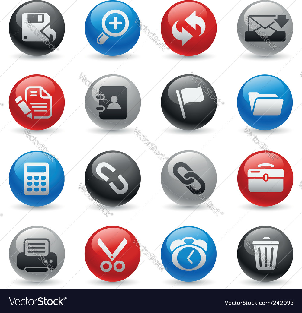 Interface icons vector | Price: 1 Credit (USD $1)