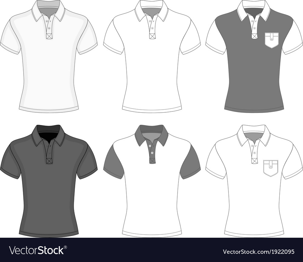 Mens short sleeve polo shirt vector | Price: 1 Credit (USD $1)