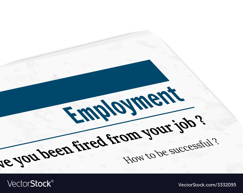 Newspaper - employment vector | Price: 1 Credit (USD $1)