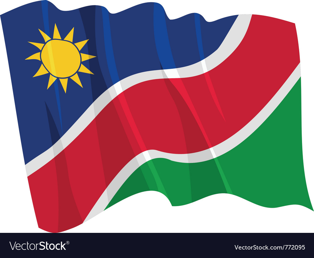 Political waving flag of namibia vector | Price: 1 Credit (USD $1)