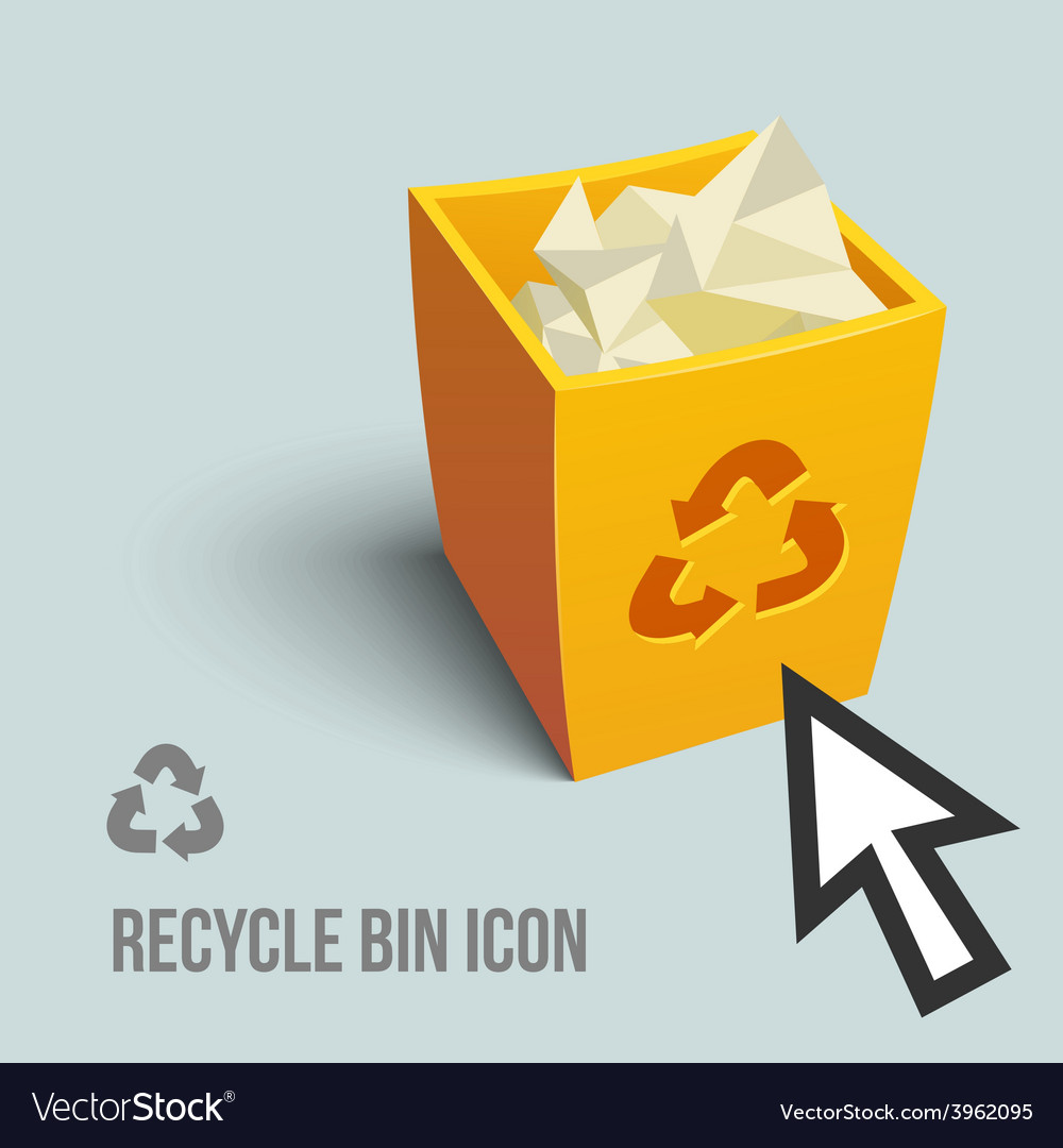 Recycle bin icon vector | Price: 3 Credit (USD $3)