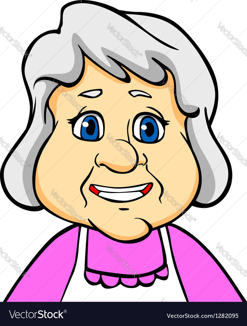 Smiling senior woman vector | Price: 1 Credit (USD $1)