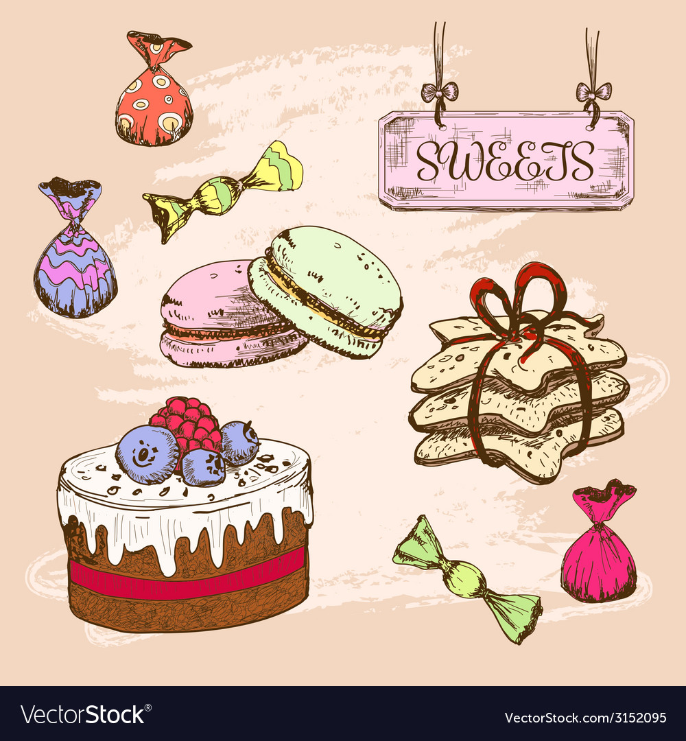 Sweets vector | Price: 1 Credit (USD $1)