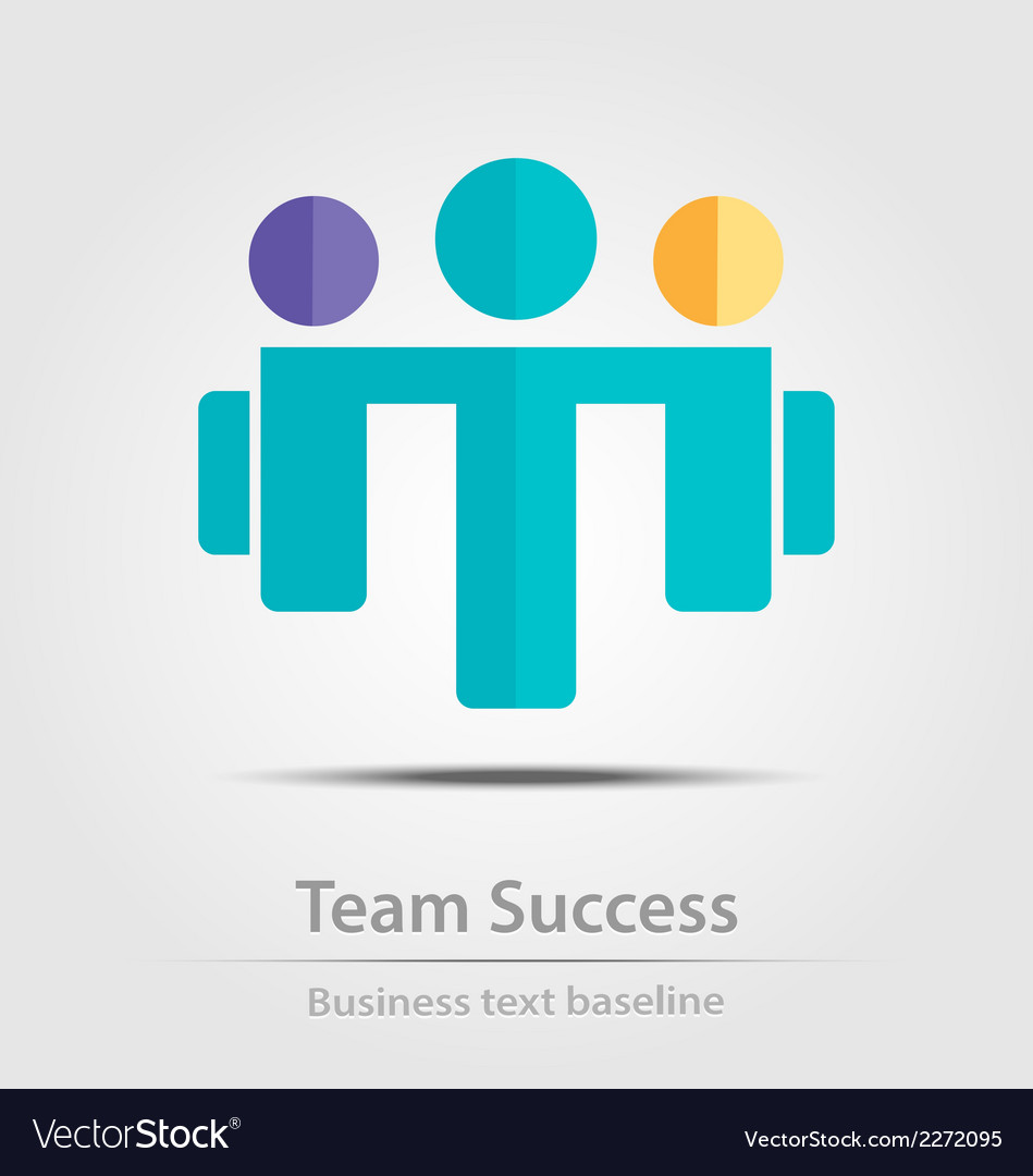 Team success business icon vector | Price: 1 Credit (USD $1)