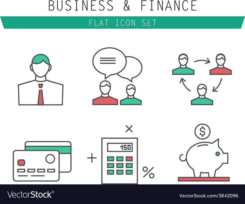 Collection of simple thin business and vector | Price: 1 Credit (USD $1)