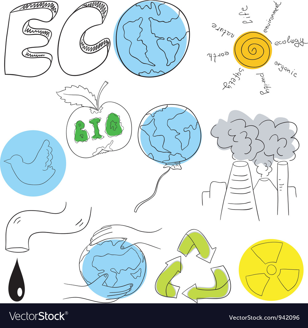 Ecology collection vector | Price: 1 Credit (USD $1)