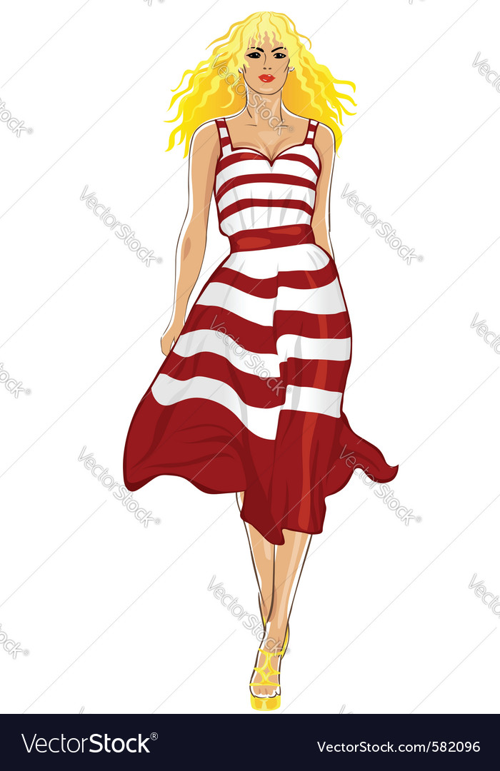 Fashion model vector | Price: 3 Credit (USD $3)