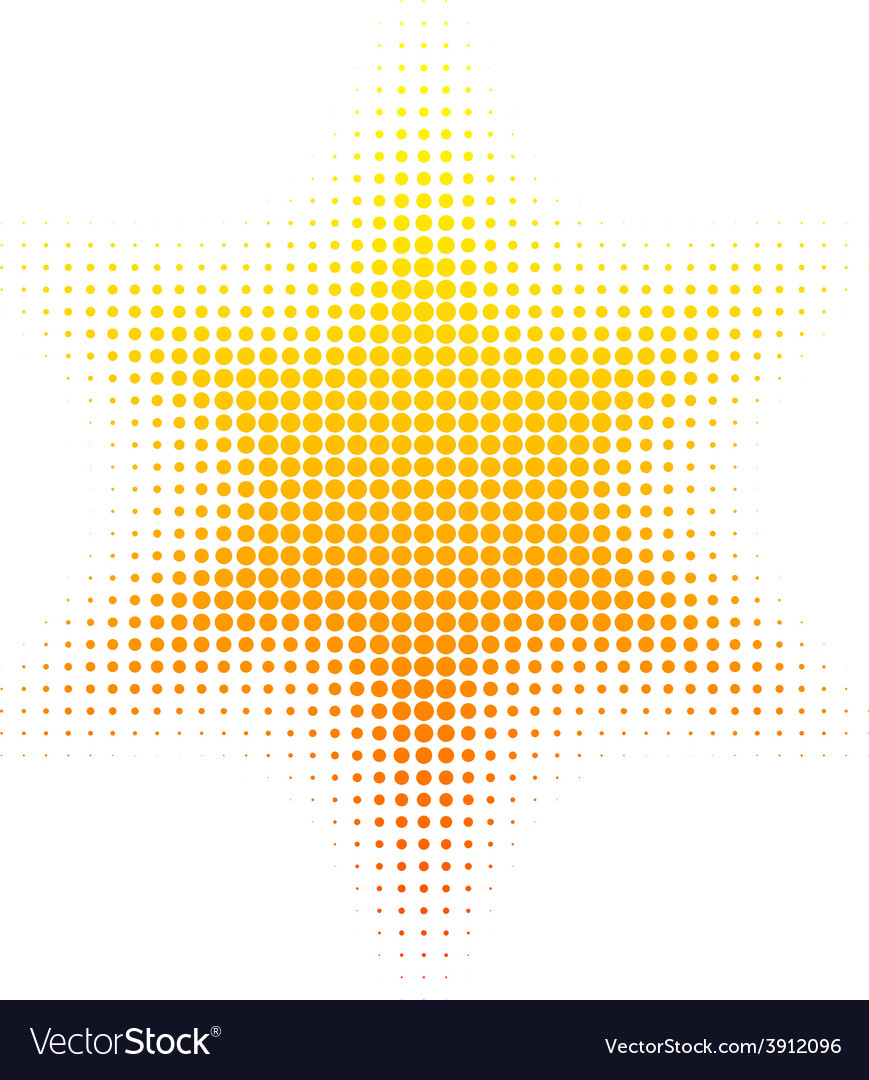 Halftone sun vector | Price: 1 Credit (USD $1)