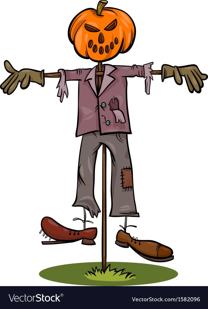 Halloween scarecrow cartoon vector | Price: 1 Credit (USD $1)