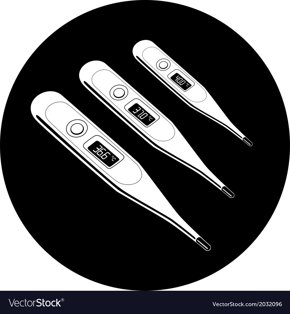 Thermometers icon vector | Price: 1 Credit (USD $1)