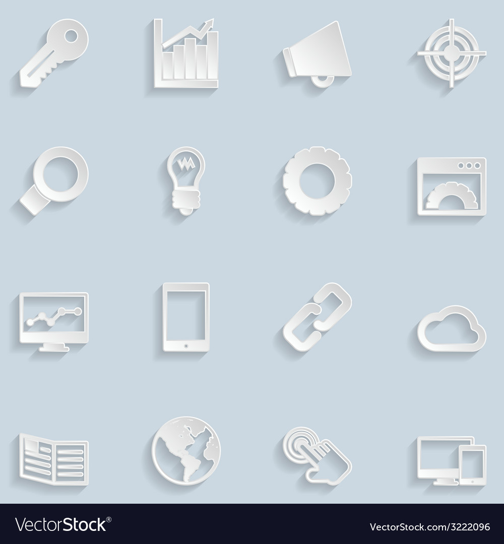 Paper seo icons vector | Price: 1 Credit (USD $1)