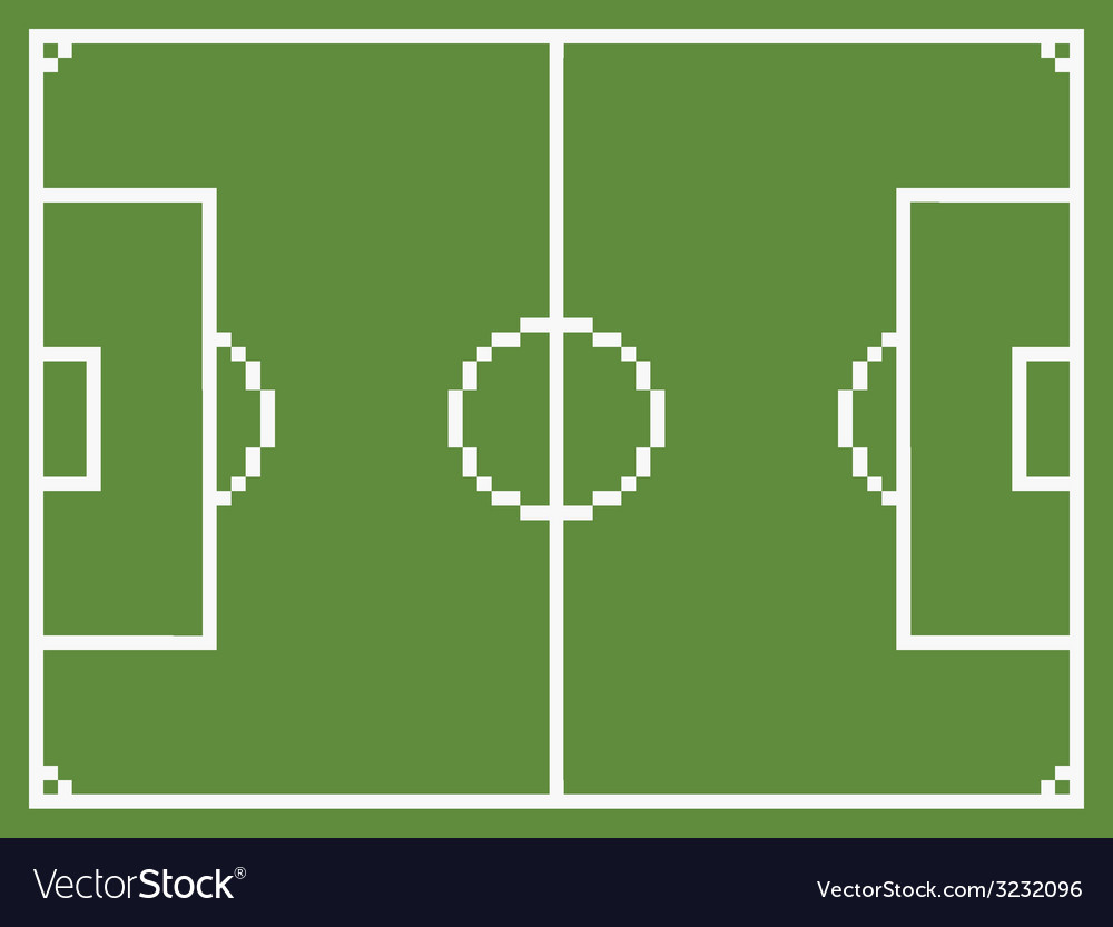 Pixel art style football sport field soccer vector | Price: 1 Credit (USD $1)