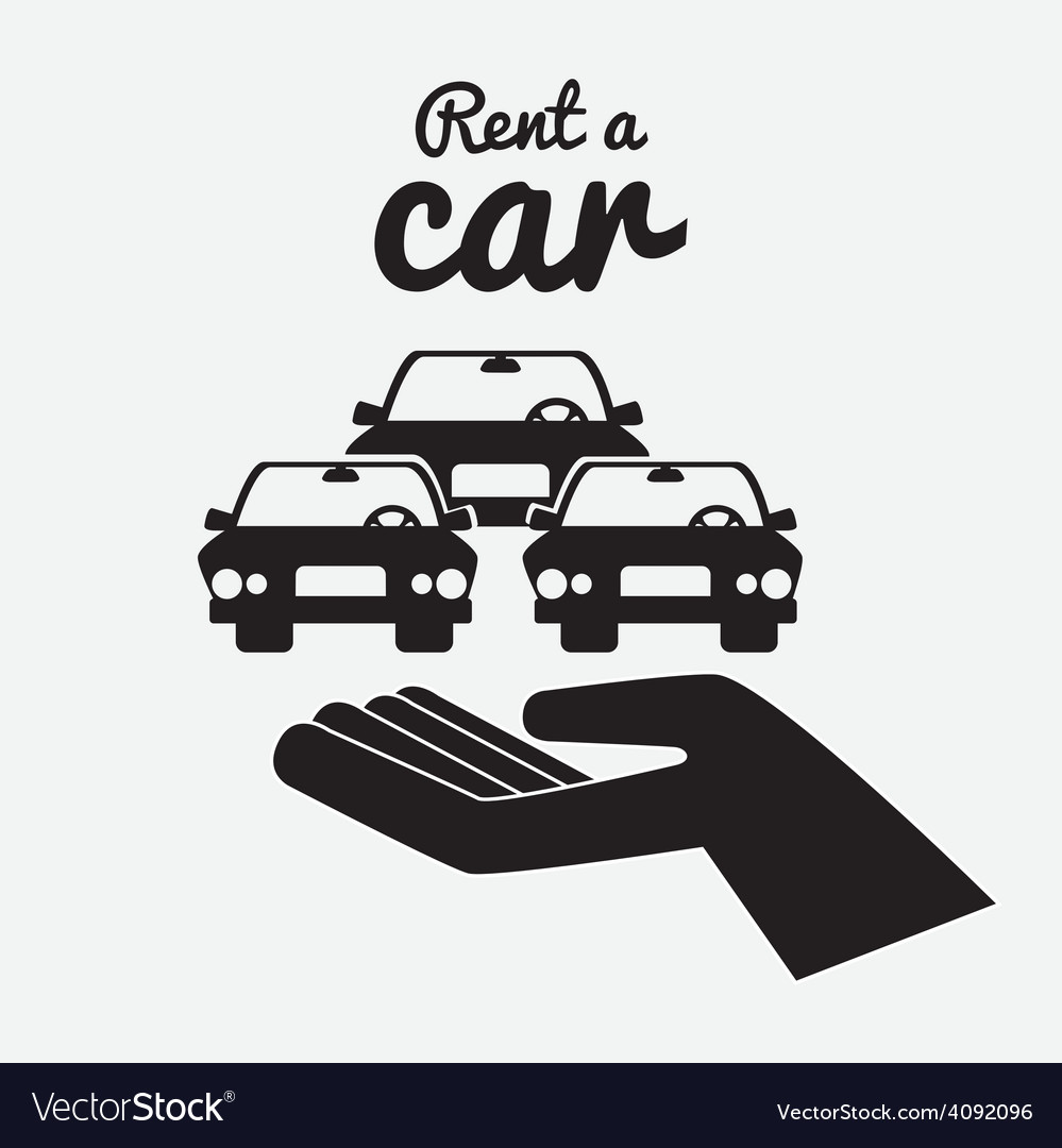 Rent a car design vector | Price: 1 Credit (USD $1)