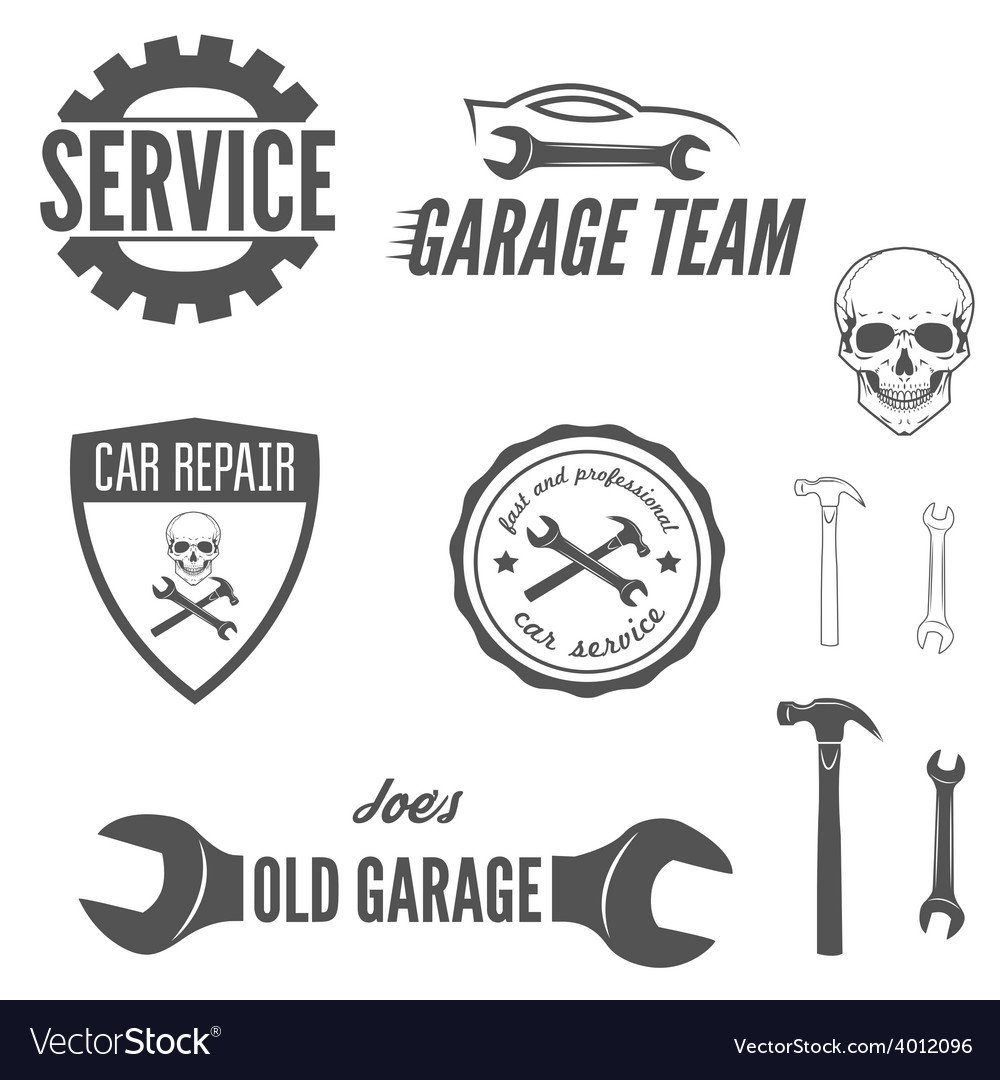 Set of logo badge emblem and logotype element vector | Price: 1 Credit (USD $1)