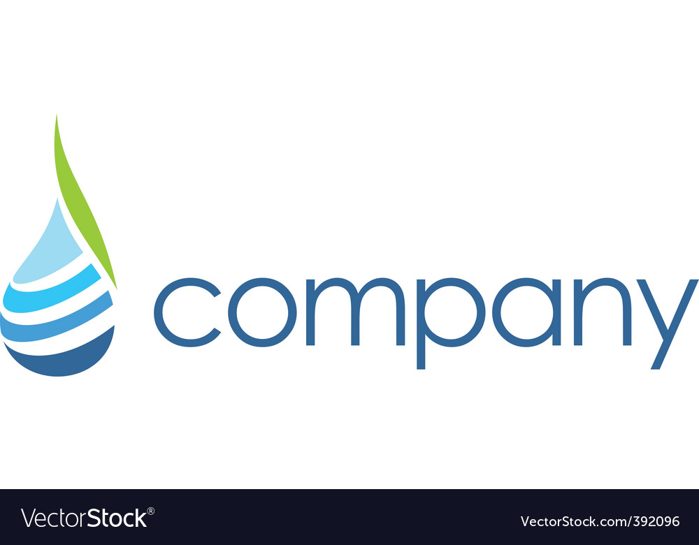 Spa logo  leaf water drop vector | Price: 1 Credit (USD $1)
