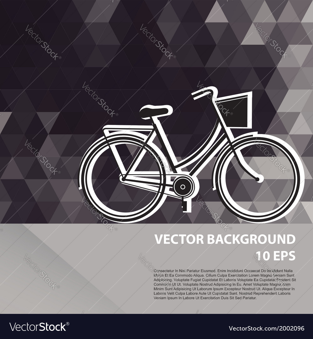 Summer poster with bicycle vector | Price: 1 Credit (USD $1)