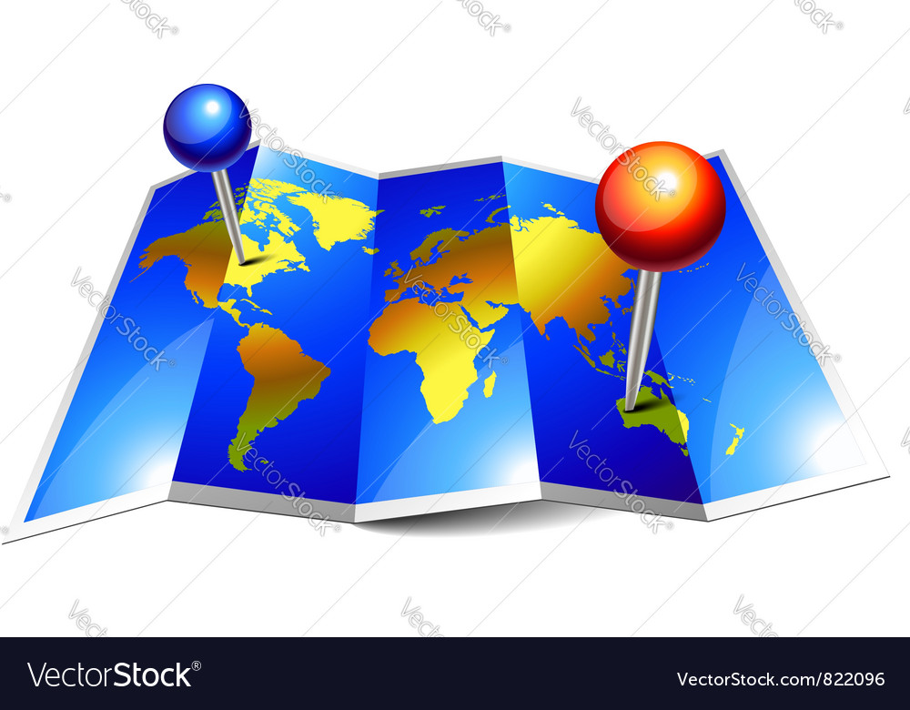 World map paper vector | Price: 1 Credit (USD $1)