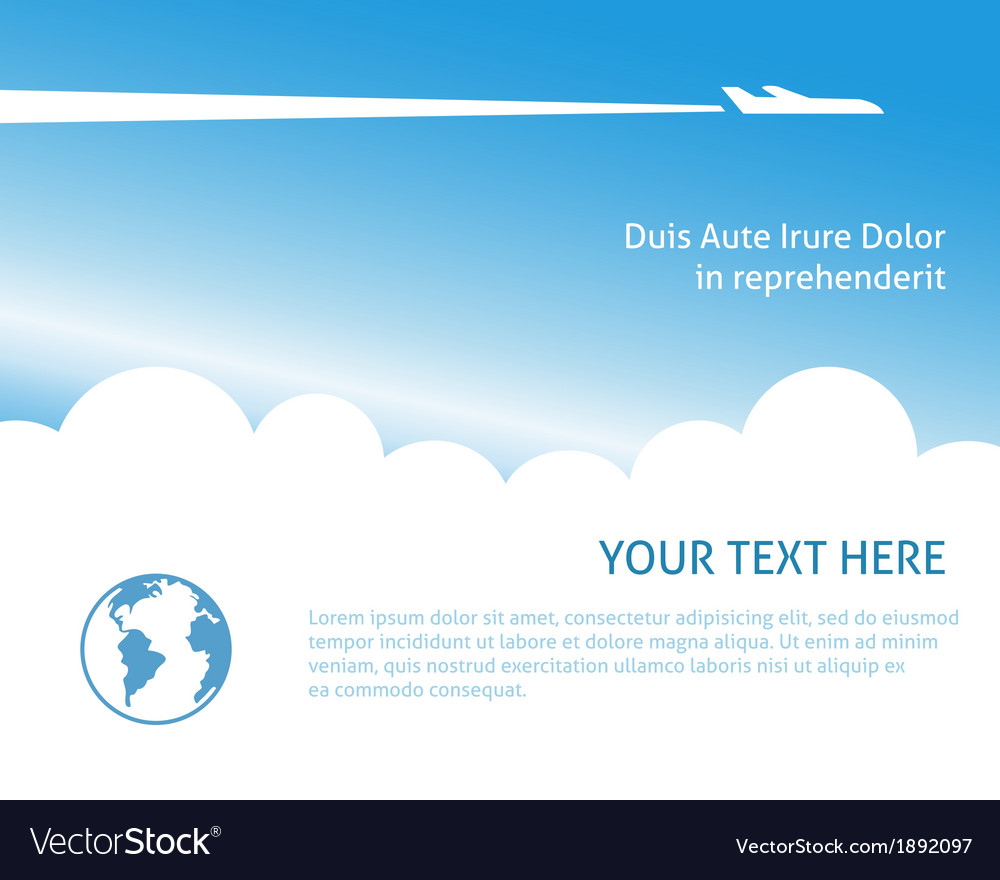 Airplane background vector | Price: 1 Credit (USD $1)