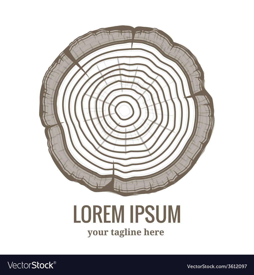 Annual tree growth rings logo icon vector | Price: 1 Credit (USD $1)