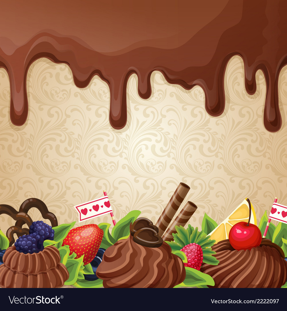 Chocolate sweets background vector | Price: 1 Credit (USD $1)