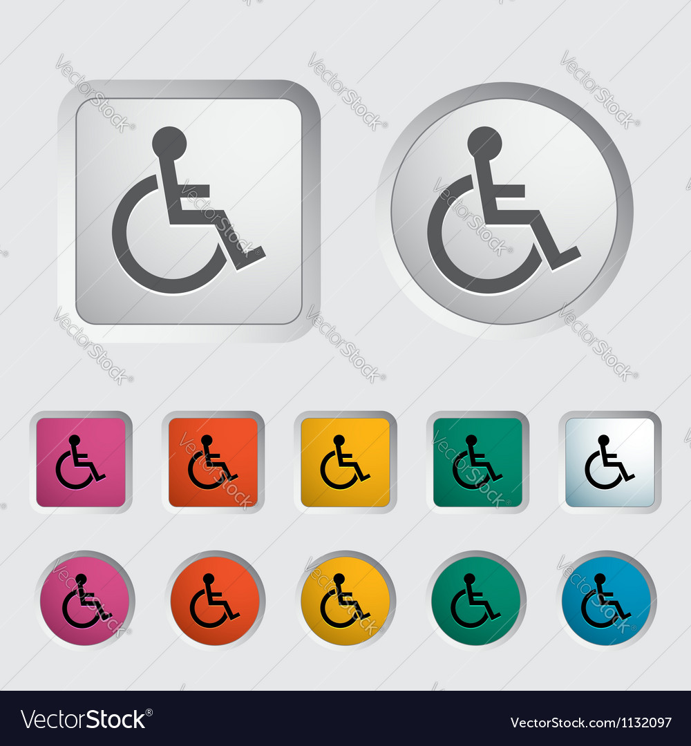 Disabled single icon vector | Price: 1 Credit (USD $1)