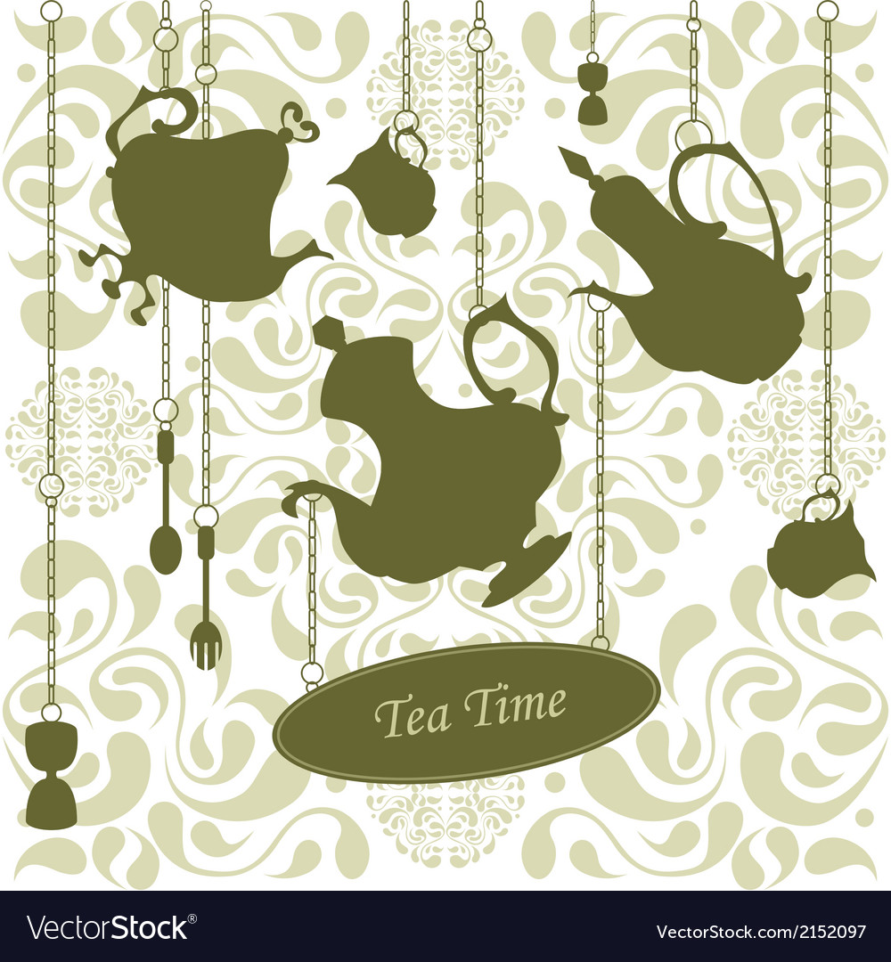 Elegant teatime vector | Price: 1 Credit (USD $1)
