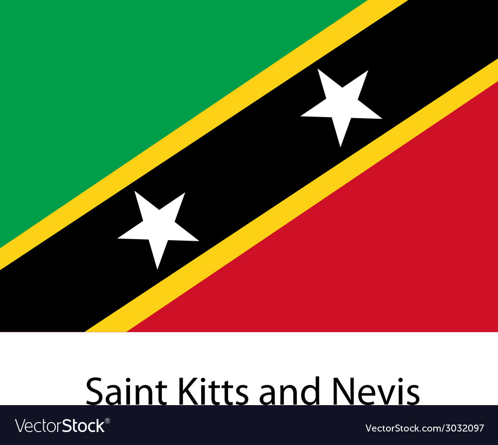 Flag of the country saint kitts and nevis vector | Price: 1 Credit (USD $1)