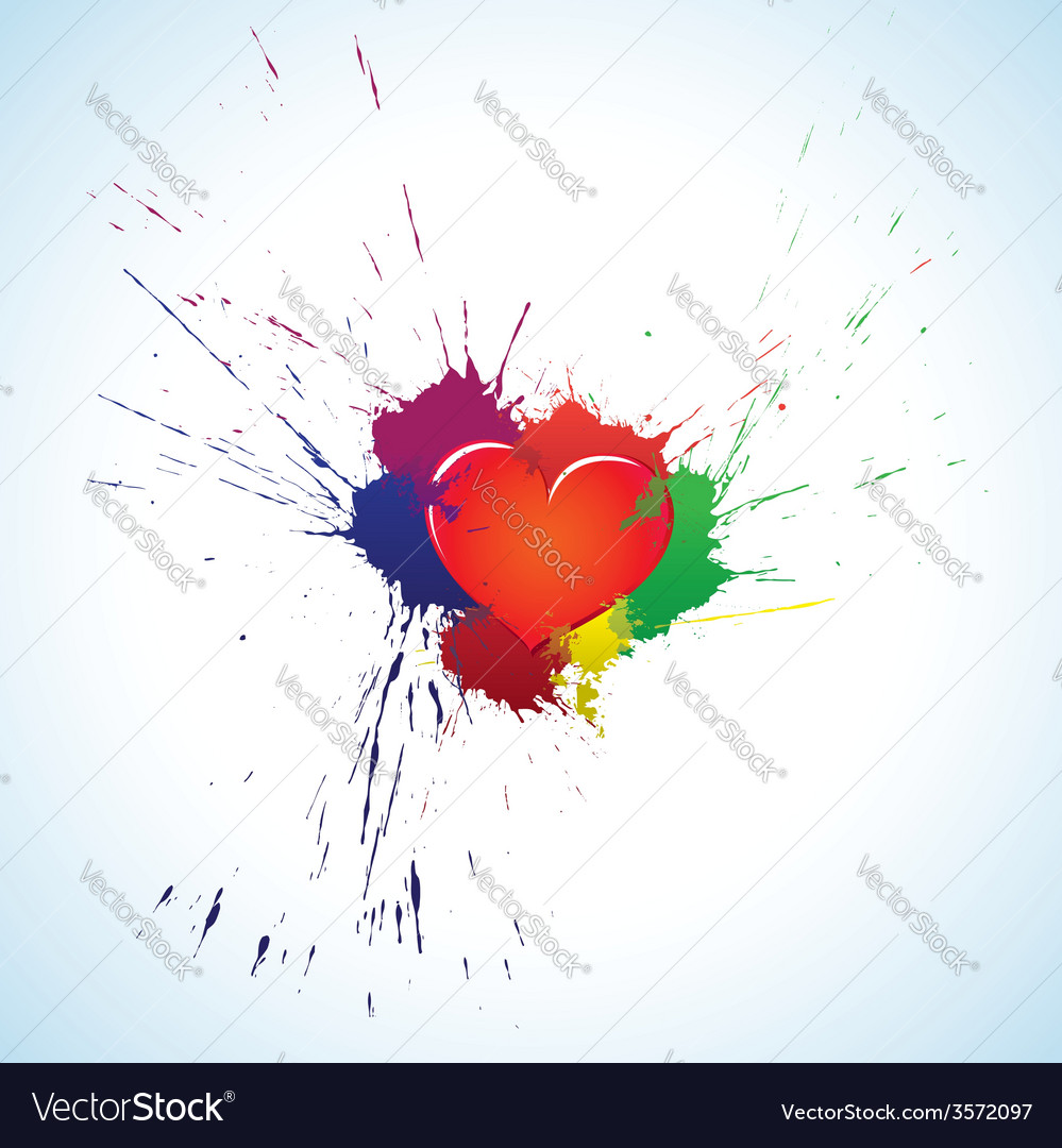 Heart with blots vector | Price: 1 Credit (USD $1)