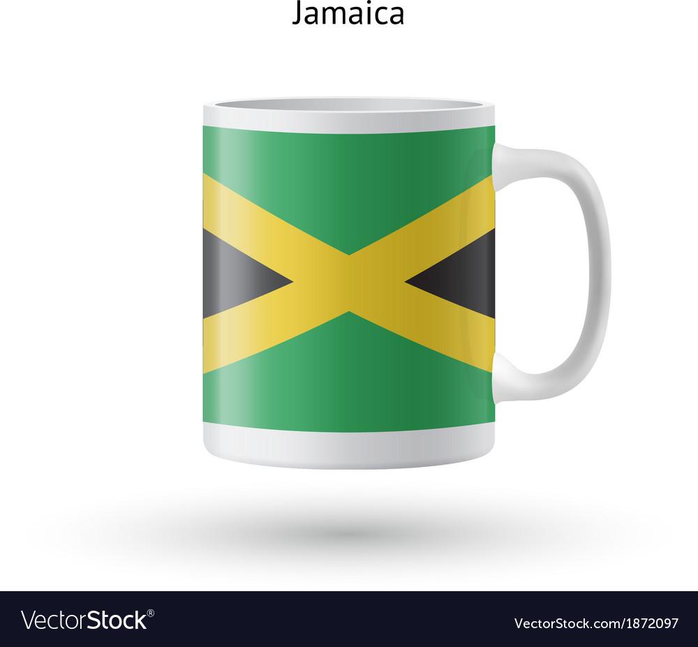 Jamaica flag souvenir mug on white background vector   Price: 1 Credit (USD $1)