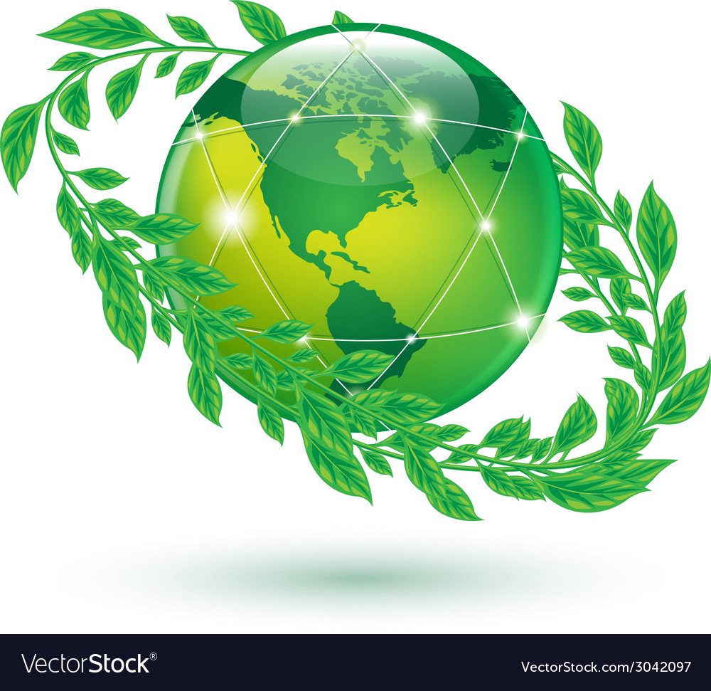 Leaf earth vector | Price: 1 Credit (USD $1)