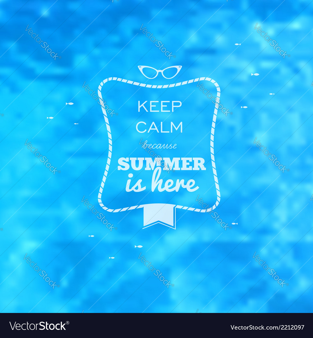 Summer card blue water pool blurry background vector | Price: 1 Credit (USD $1)