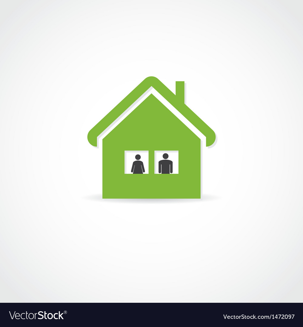 Two in the house vector | Price: 1 Credit (USD $1)
