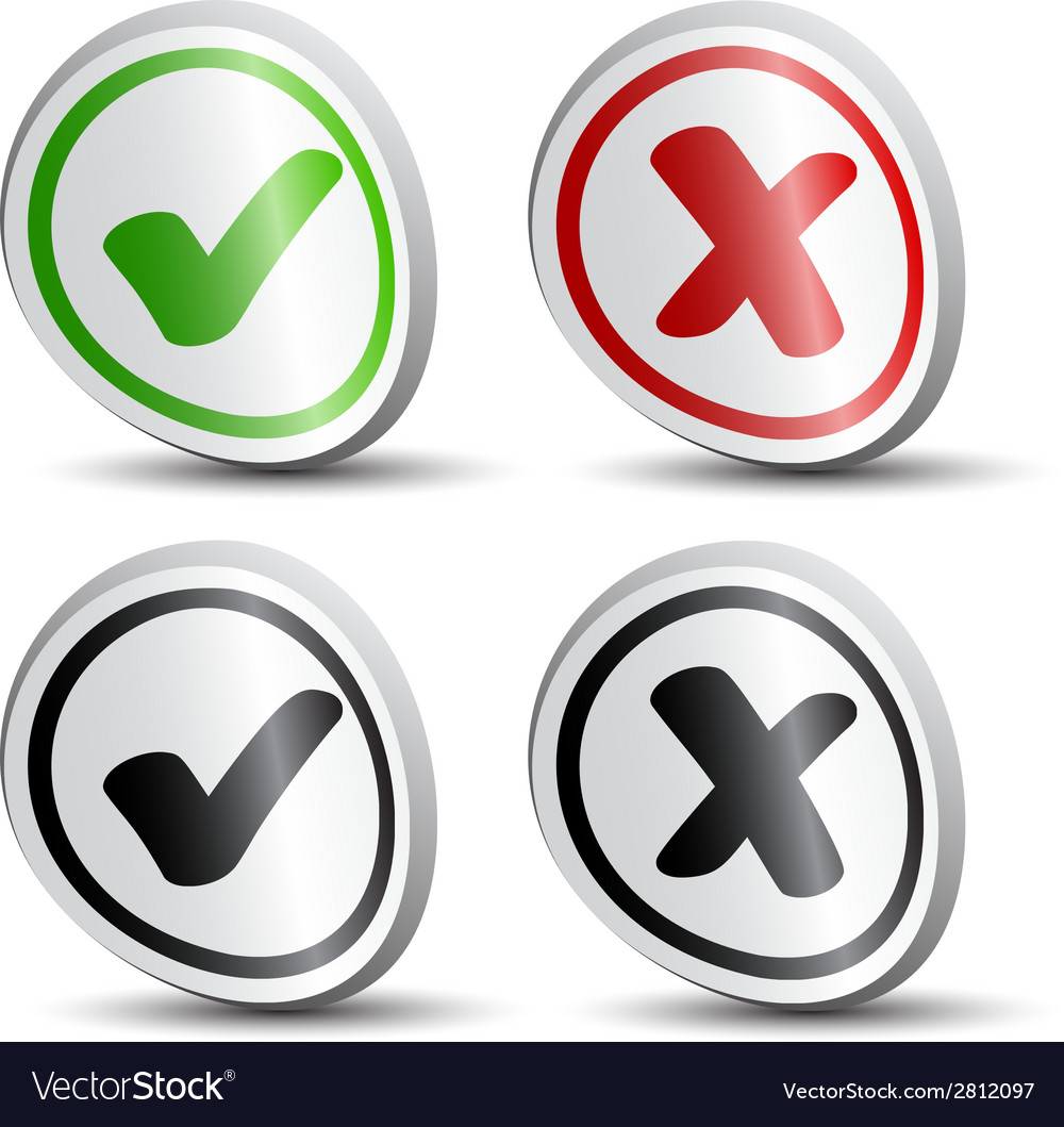 White checkmarks round labels vector | Price: 1 Credit (USD $1)