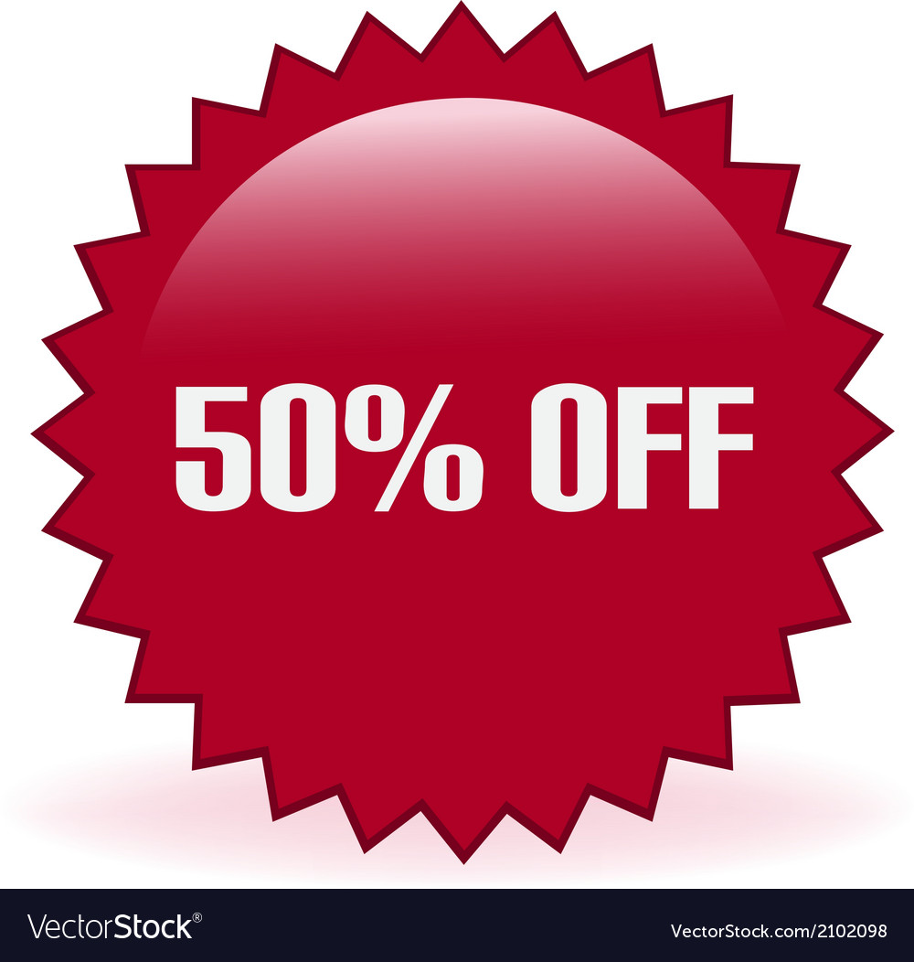 50 off sticker vector | Price: 1 Credit (USD $1)