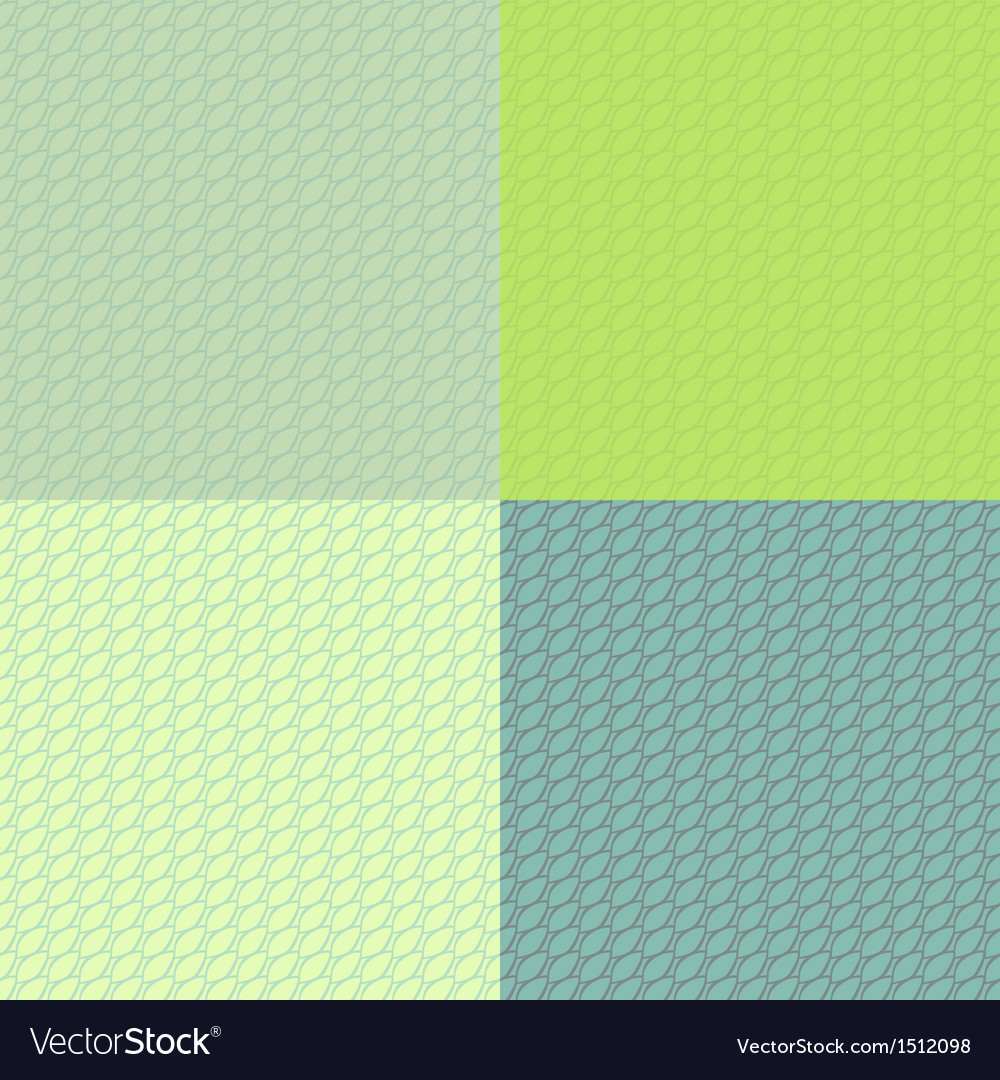 Abstract scales stylized seamless pattern set in vector | Price: 1 Credit (USD $1)