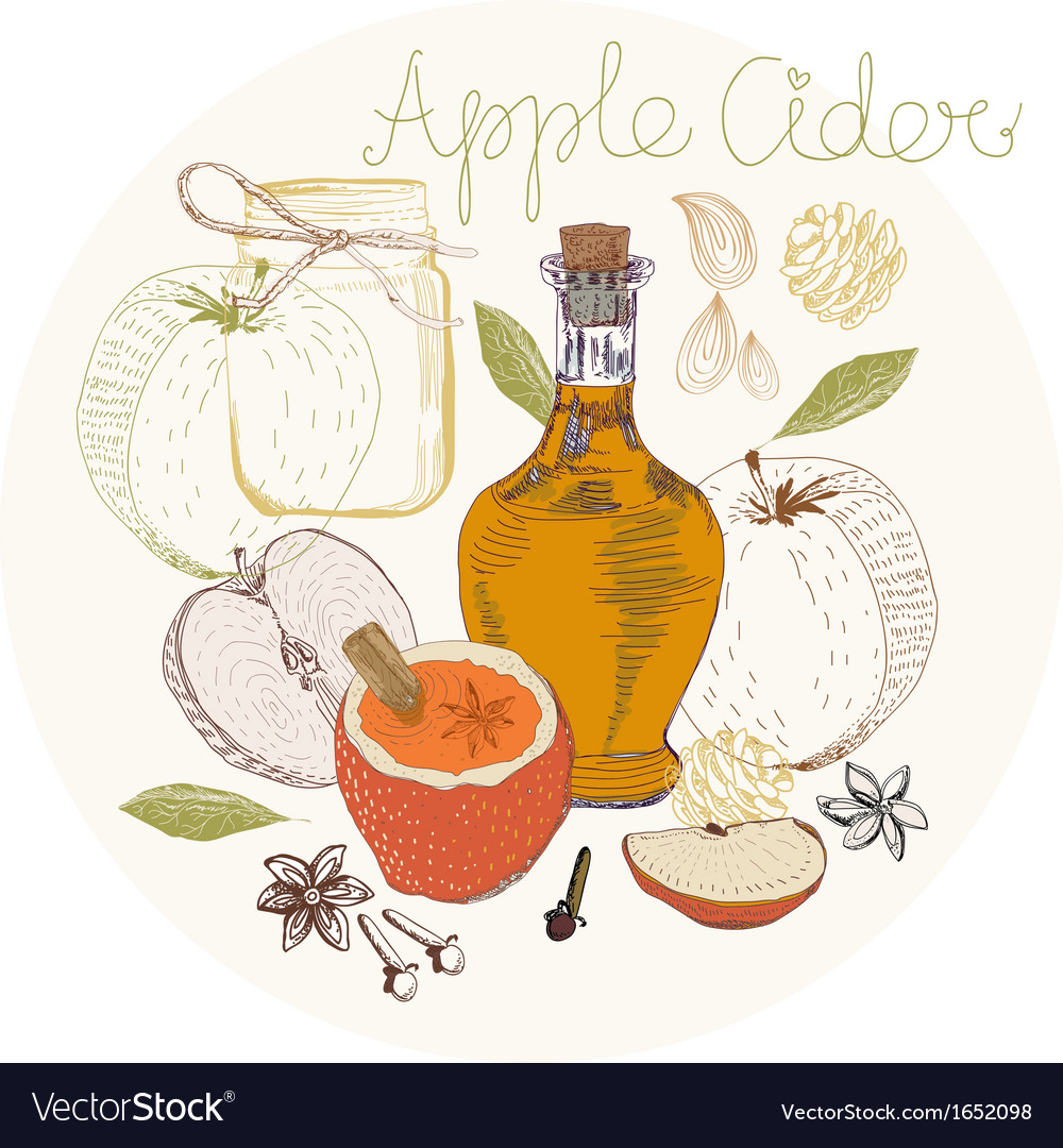 Apple cider background vector | Price: 1 Credit (USD $1)