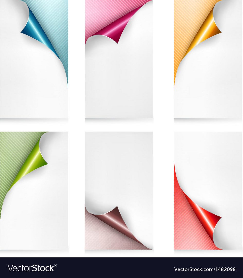 Collection of colorful paper banners paper design vector | Price: 1 Credit (USD $1)