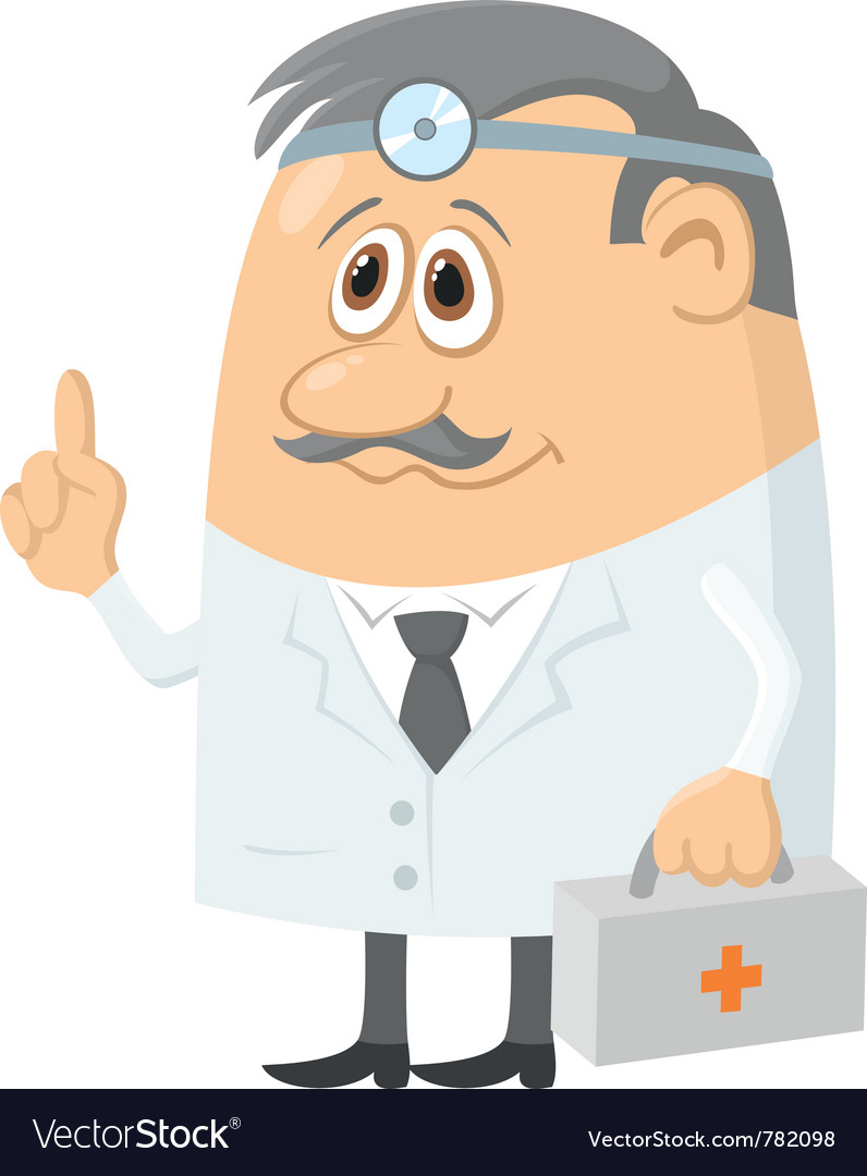 Doctor with case vector | Price: 3 Credit (USD $3)