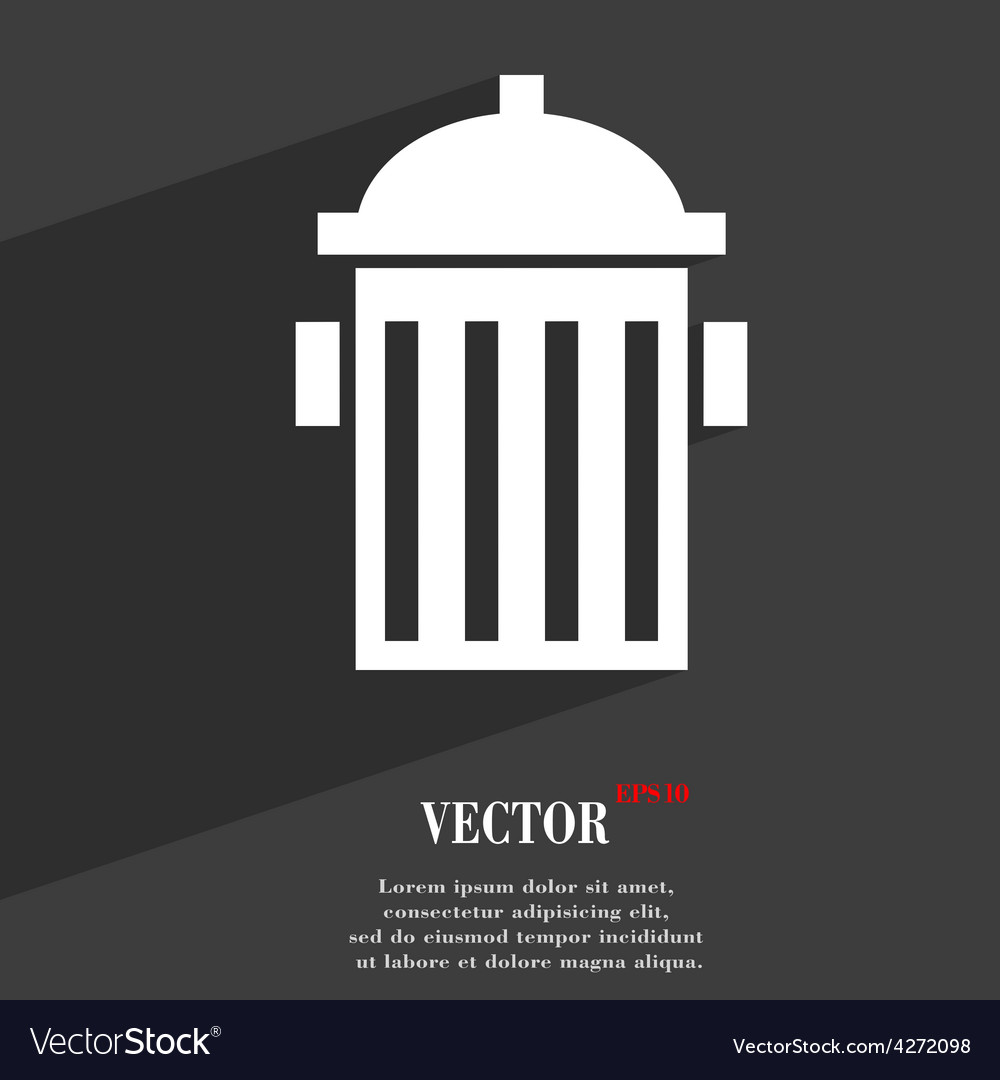 Fire hydrant icon symbol flat modern web design vector | Price: 1 Credit (USD $1)