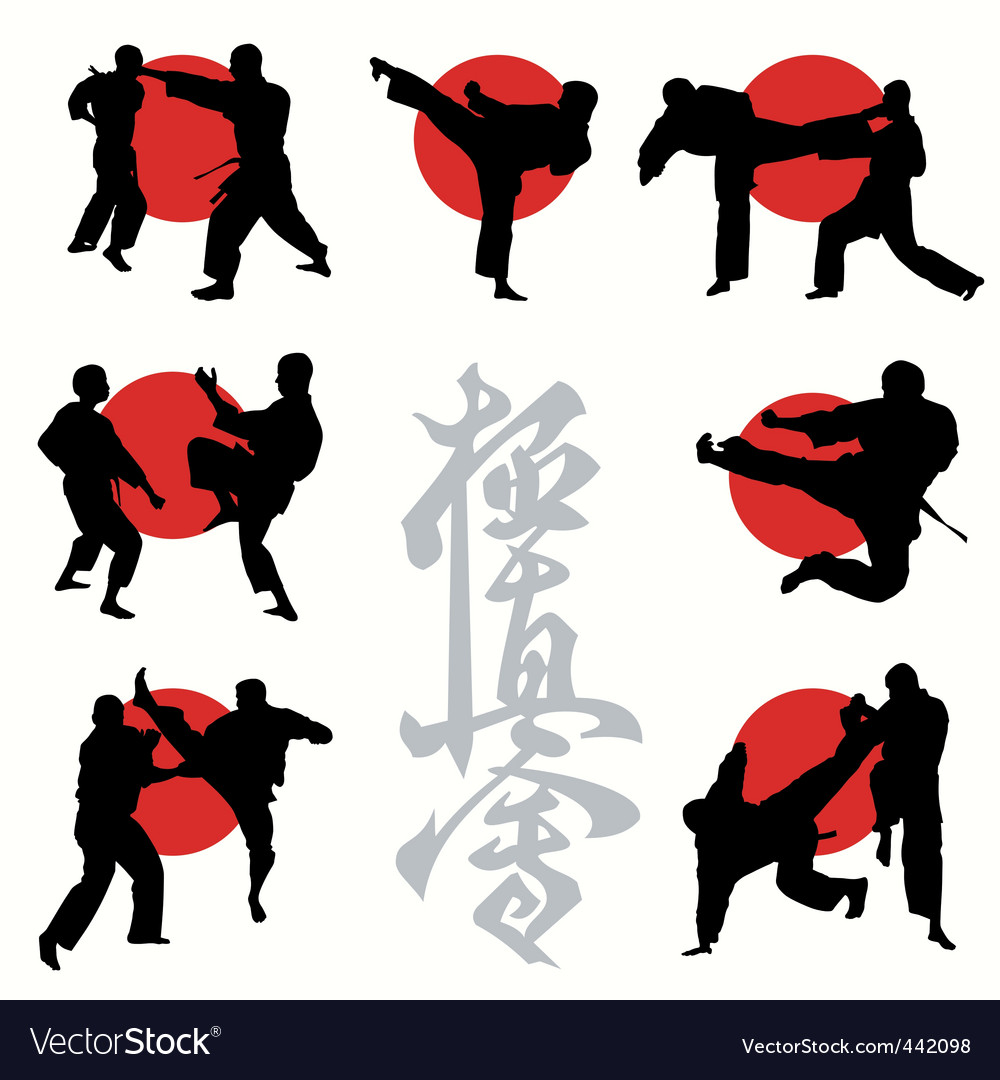 Kyokushin karate vector | Price: 1 Credit (USD $1)
